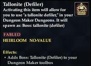 Tallonite (Defiler)