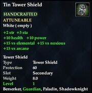 Tin Tower Shield