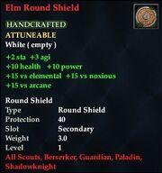 Elm Round Shield