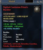 Sigiled Caertaxian Priest's Buckler
