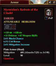 Myrmidon's Barbute of the Citadel