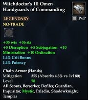 Witchdoctor's Ill Omen Handguards of Commanding