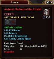 Archon's Barbute of the Citadel