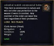 Celestial watch ceremonial helm