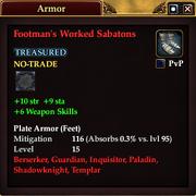 Footman's Worked Sabatons