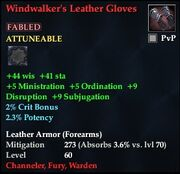 Windwalker's Leather Gloves (Fabled)