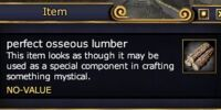 Perfect osseous lumber