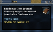Drednever Torn Journal