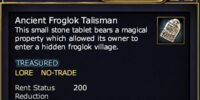 Ancient Froglok Talisman