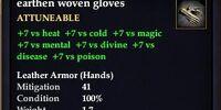 Earthen woven gloves