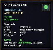 Vile Green Orb