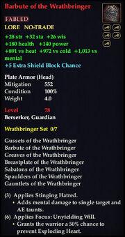 Barbute of the Wrathbringer