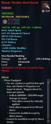 Bloody Ykeshan Short Sword