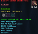 Bloody Ykeshan Short Sword