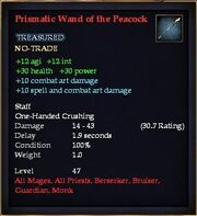 Prismatic Wand of the Peacock