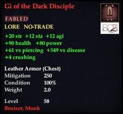 Gi of the Dark Disciple