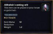 Abbatoir's seeing orb