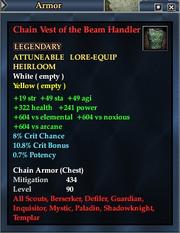 Chain Vest of the Beam Handler