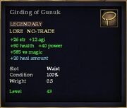Girding of Gunuk