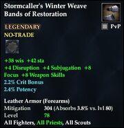 Stormcaller's Winter Weave Bands of Restoration