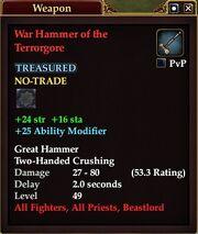 War Hammer of the Terrorgore