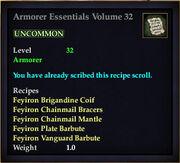 Armorer Essentials Volume 32