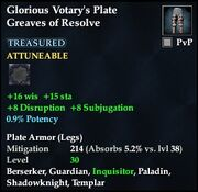 Glorious Votary's Plate Greaves of Resolve
