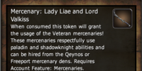 Mercenary: Lady Liae and Lord Valkiss