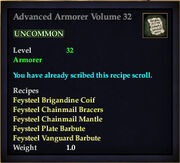 Advanced Armorer Volume 32