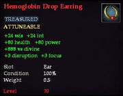 Hemoglobin Drop Earring