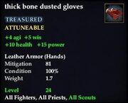 Thick bone dusted gloves