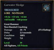 Garwater Sledge