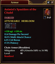 Animist's Spaulders of the Citadel