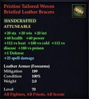 Pristine Tailored Woven Bristled Leather Bracers