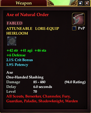 Axe of Natural Order
