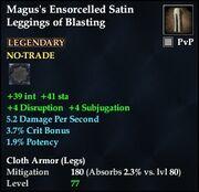 Magus's Ensorcelled Satin Leggings of Blasting