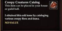 Creepy Creatures Catalog