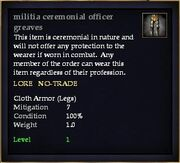 Militia ceremonial officer greaves