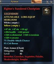 Fighter's Sundered Chestplate