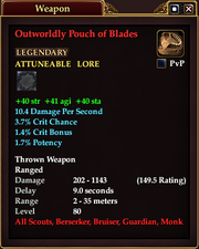 Outworldly Pouch of Blades
