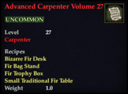 Advanced Carpenter Volume 27