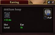 Deklium hoop