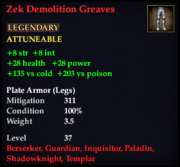 Zek Demolition Greaves