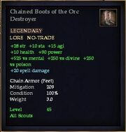 Chained Boots of the Orc Destroyer