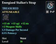 Energized Stalker's Strap