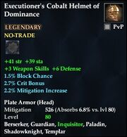 Executioner's Cobalt Helmet of Dominance