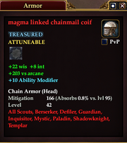 Magma linked chainmail coif