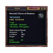 Merciful Gloves of Shadows