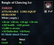Bangle of Glancing Ice