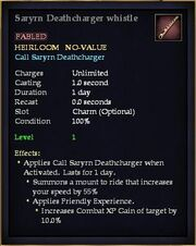 Saryrn Deathcharger whistle